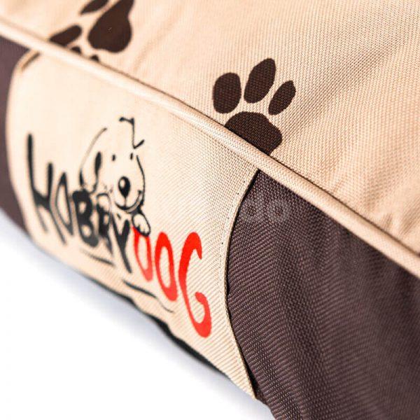 Elegantné oválne matrace pre psov labky béžové