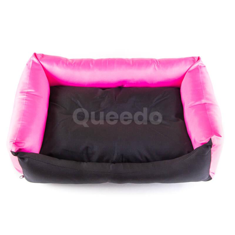 Nádherný ružový pelech pre psa Eco s čiernou