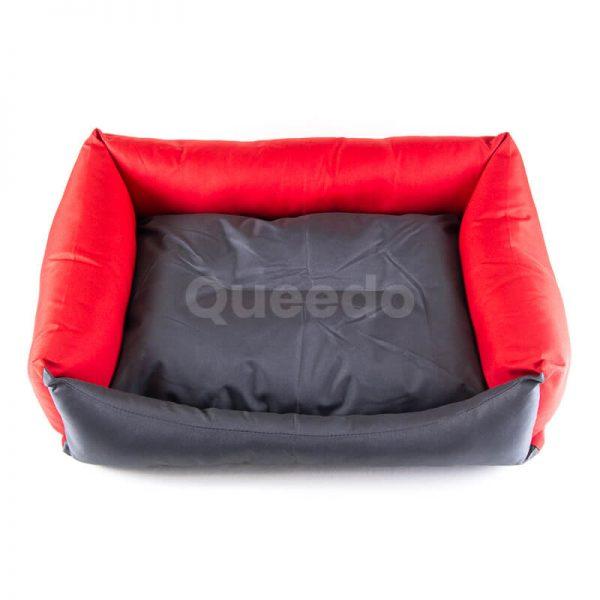 Elegantný a pevný pelech pre psa Eco šedo červený