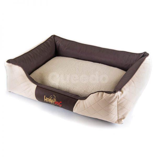 Moderný pelech pre psa kožený Cesar Exclusive béžovo hnedý