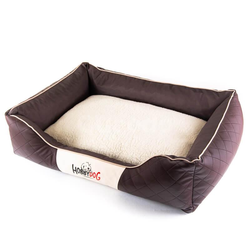 Kvalitný pelech pre psa kožený Cesar Exclusive hnedý