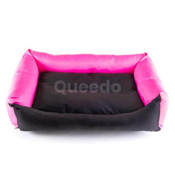 Elegantné ružové pelechy pre psa Eco s čiernou Hobbydog