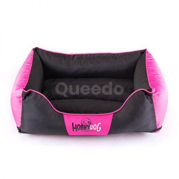 Nádherné ružové pelechy pre psov Comfort s čiernou