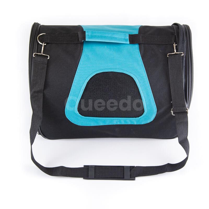 Praktická prenosná taška pre mačku modro čierna