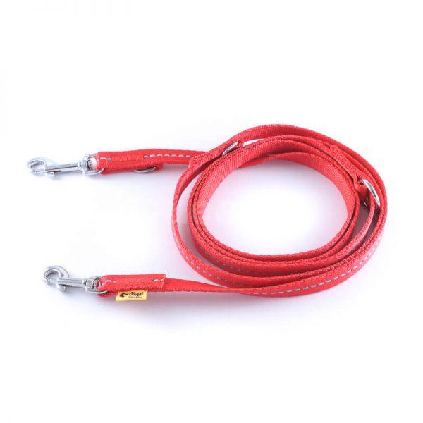 Praktické a odolné červené prepínacie vodítko pre psa reflex