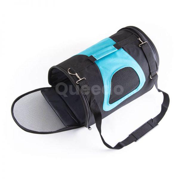 Pevná prepravka pre psa modro čierna