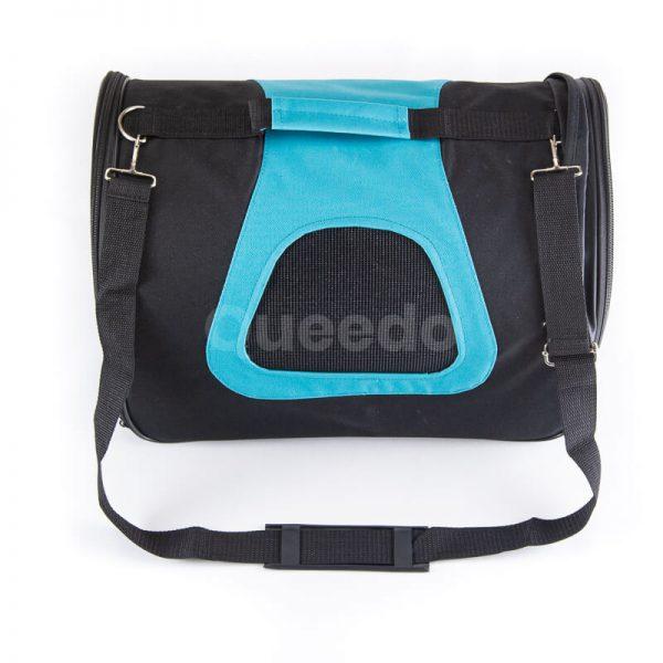 Kvalitná prepravná taška pre psa modro čierna