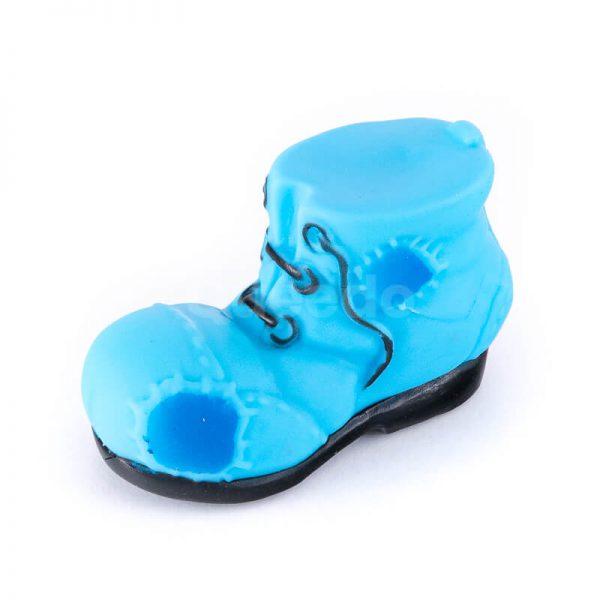 Moderná psia hračka topánka menšia modrá
