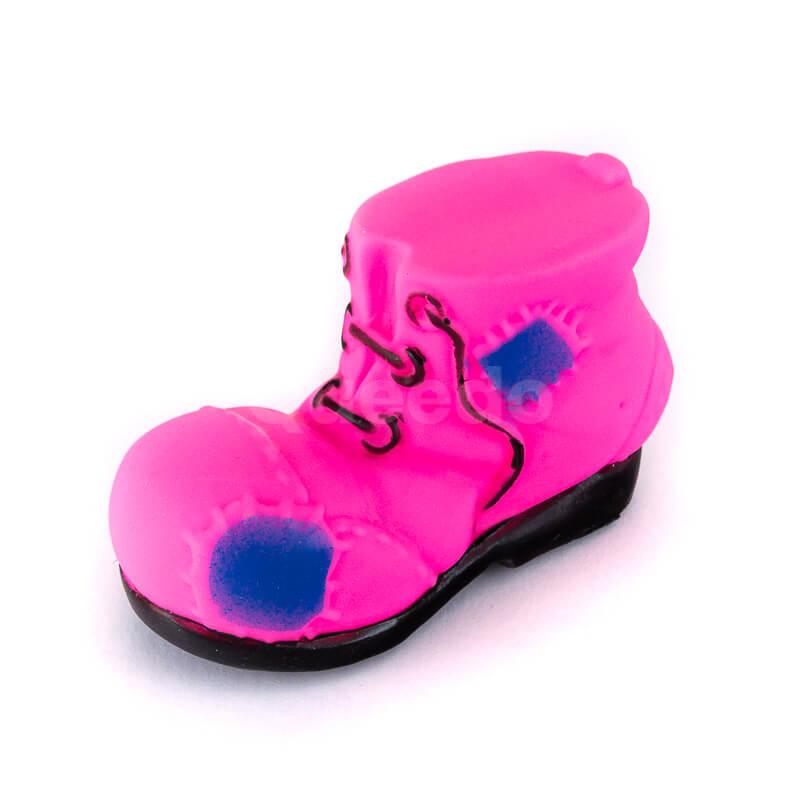 Elegantná psia hračka topánka menšia ružová