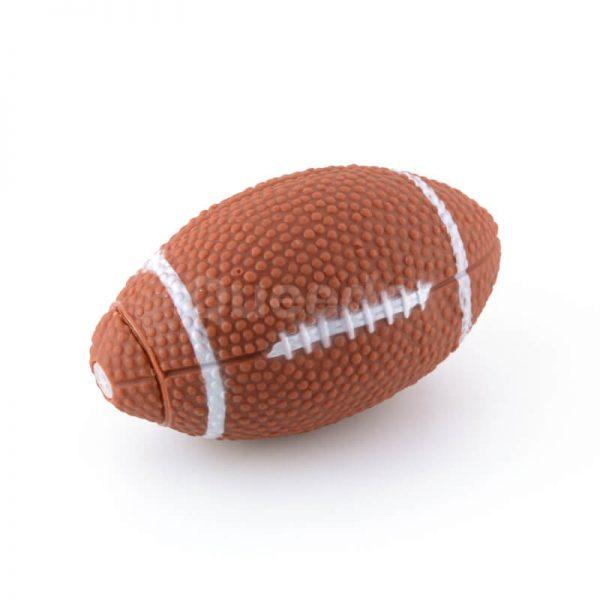 Moderné psie hračky rugby lopta hnedá