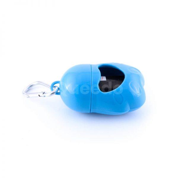 Praktické púzdro na sáčky na exkrementy pre psov modré