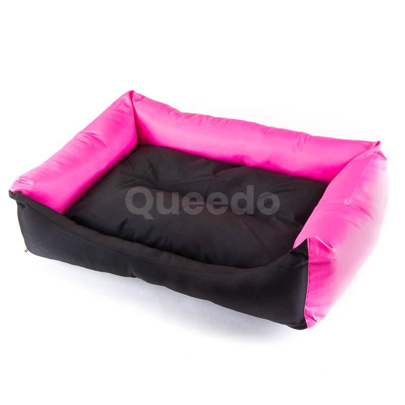 Nádherné ružové pelechy pre psov Eco s čiernou