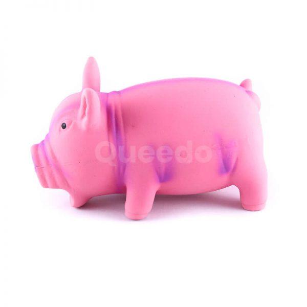 Zábavná latexová hračka pre psa prasiatko ružové