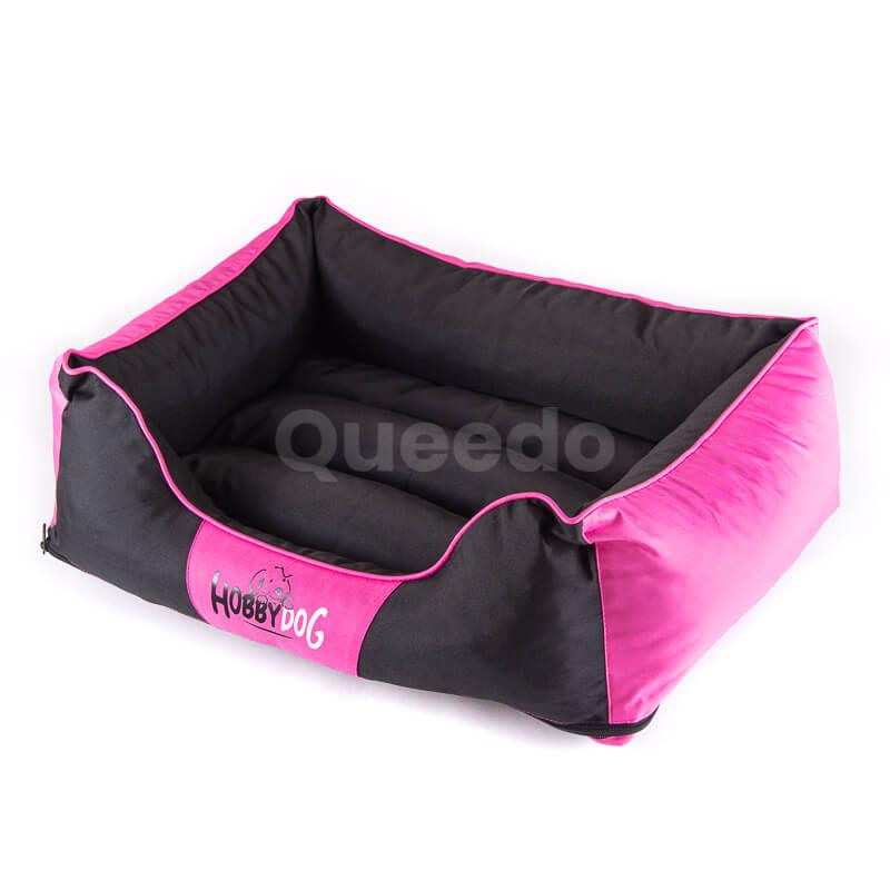 Krásny pelech pre psa Comfort ružovo čierny