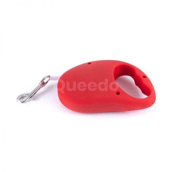 Pevné samonavíjacie vodítko pre psa basic červené