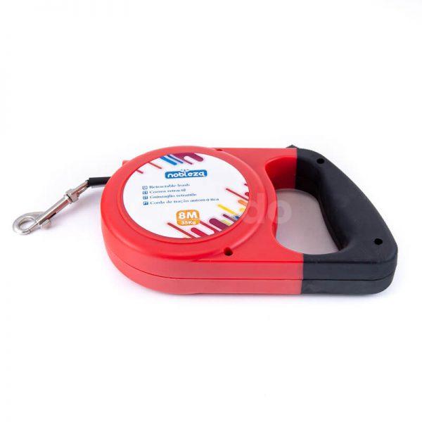 Kvalitné samonavíjacie vodítko pre psa HIPS červené