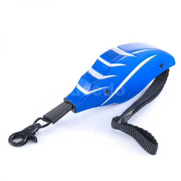 Krásne a praktické samonavíjacie vodítko pre psa mini modré
