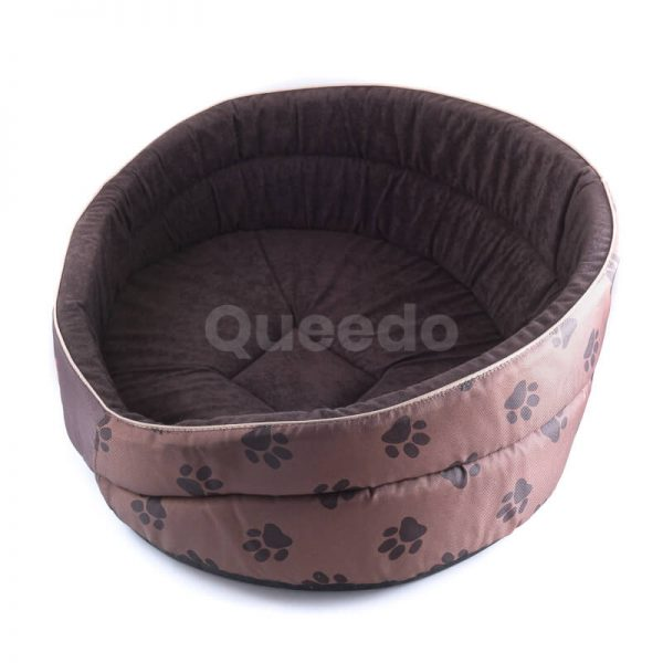 Pohodlné a vkusné pelechy pre psa Pianki labky svetlohnedé