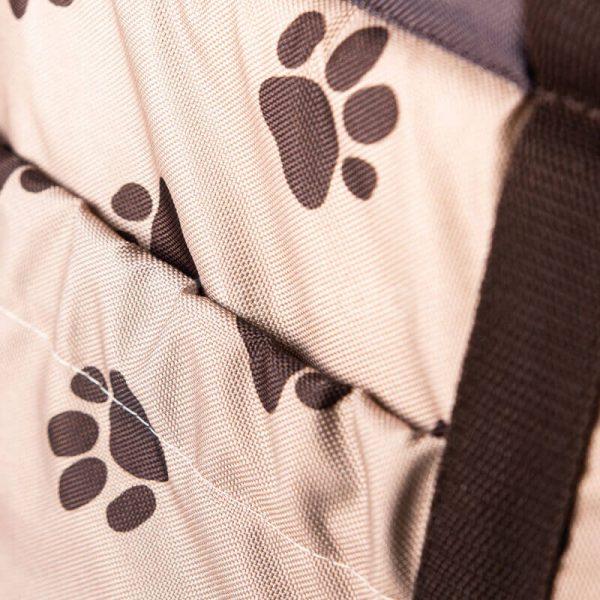 Moderná taška na psa labky béžová
