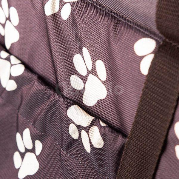Estetická taška na psa labky hnedá