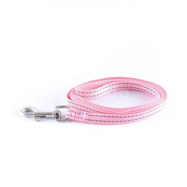 Odolné vodítko pre psa imitácia nylonu ružové