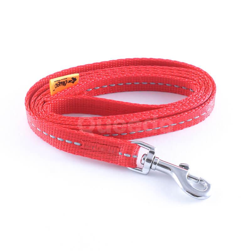Kvalitné vodítko pre psa reflex červenej farby