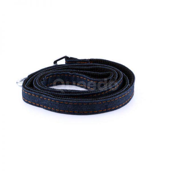 Odolná vôdzka pre psa denim čierna