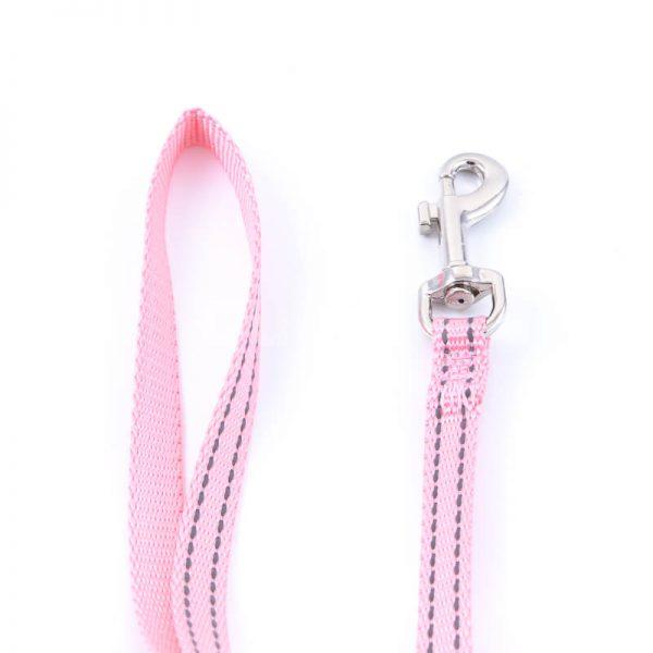 Krásna vôdzka pre psa imitácia nylonu ružová