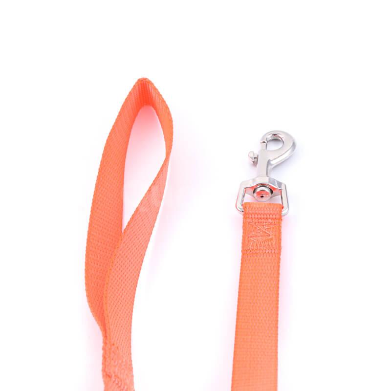 Elegantná vôdzka pre psa light oranžová