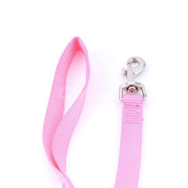 Elegantná vôdzka pre psa light ružová