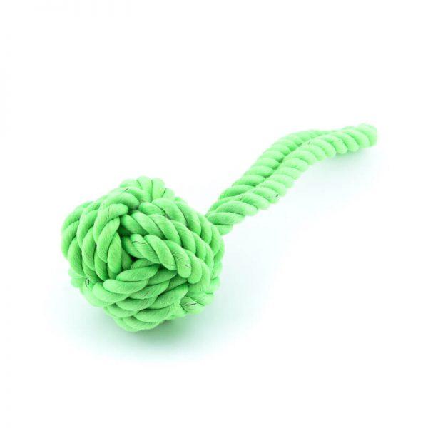 Odolná zelená hračka pre psa lano uzol