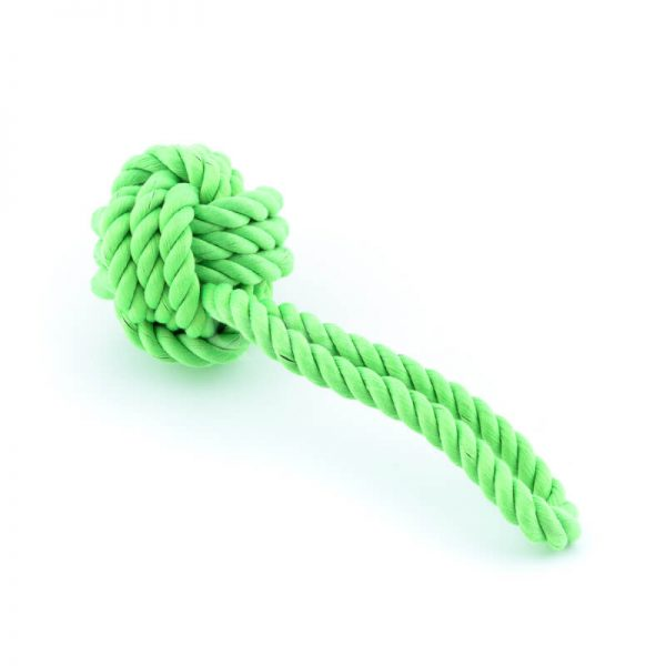 Elegantná psia hračka lano uzol zelená