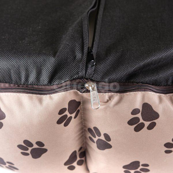Elegantný béžový pelech pre mačky New York labky detail