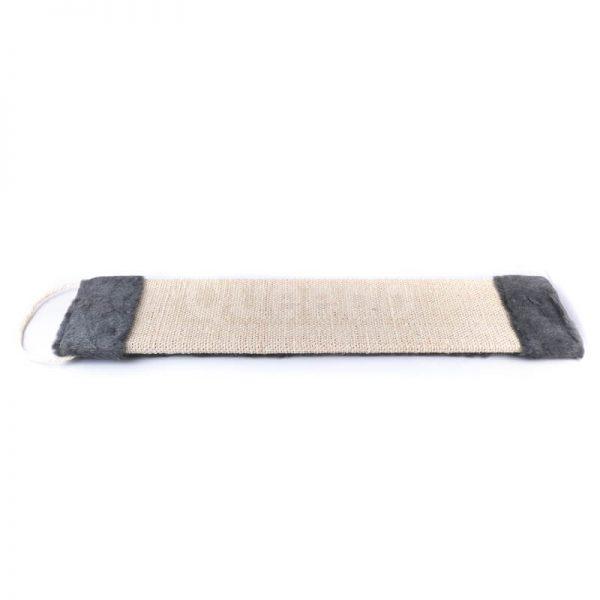 Pevné čierne škrabadlo na stenu tkanina plyš väčšie