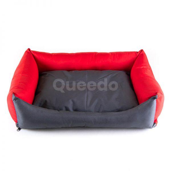 Estetické mačacie pelechy Eco šedo červené