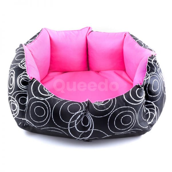 Kvalitné mačacie pelechy New York ružovo čierne