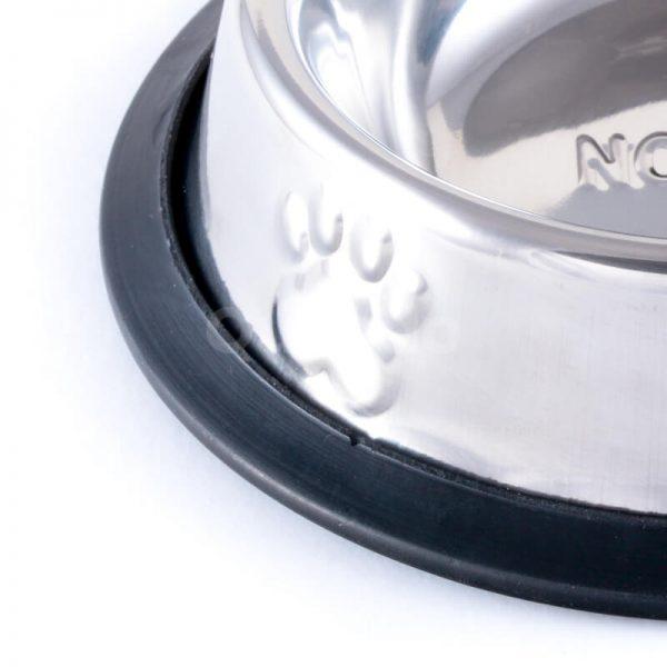 Praktická a odolná nerezová miska pre mačky packa