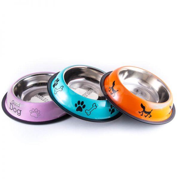 Nádherné nerezové misky pre psov nápisy rôzne farby