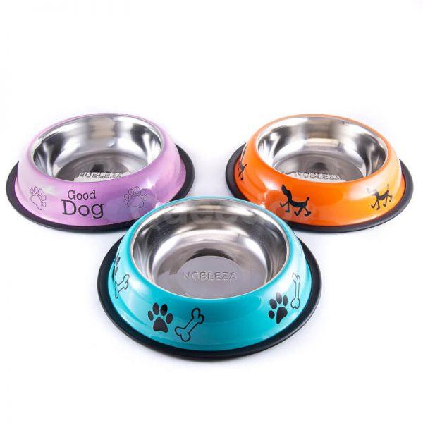 Krásne a odolné protišmykové nerezové misky pre psov nápisy
