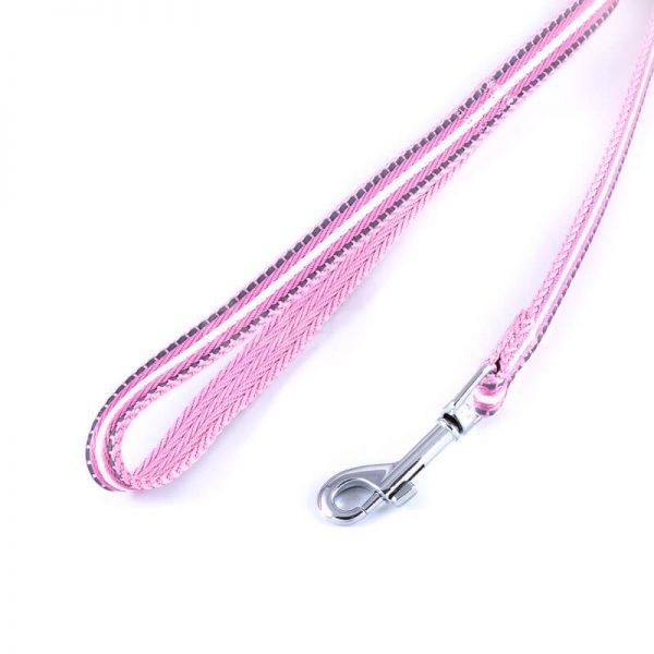 Krásne ružové vodítko pre mačky pásik reflex