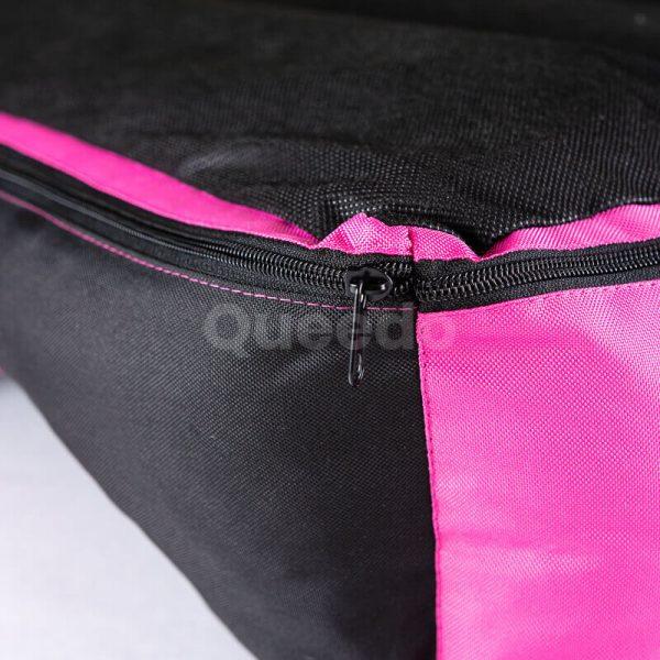 Moderný ružový pelech pre mačku Comfort s čiernou detail