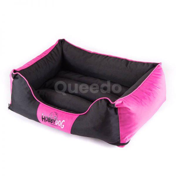 Praktický ružový pelech pre mačky Comfort s čiernou