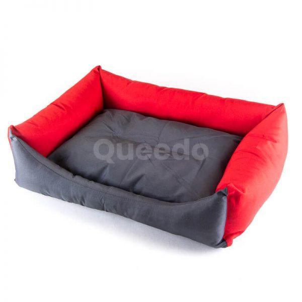 Moderný pelech pre mačku Eco šedo červený
