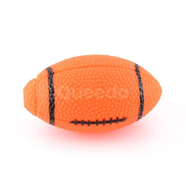 Praktická gumená hračka pre psa rugby lopta oranžová