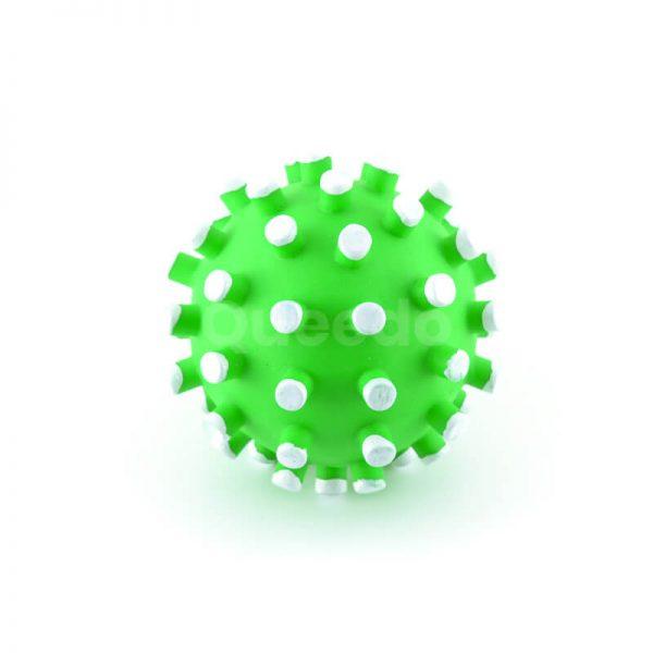 Praktická hračka pre psa loptička biele pichliače zelená
