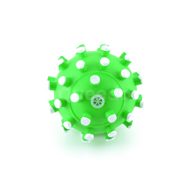 Odolná lopta pre psa zelená biele pichliače