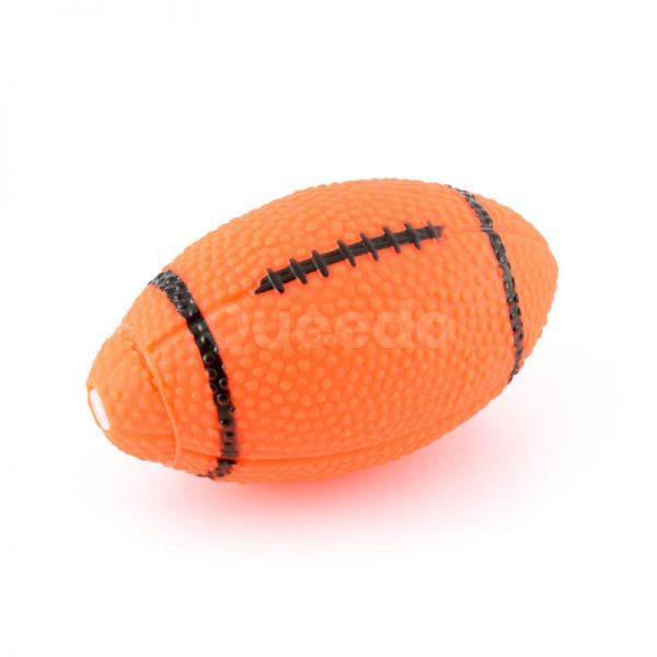 Zábavné psie hračky rugby lopty oranžové