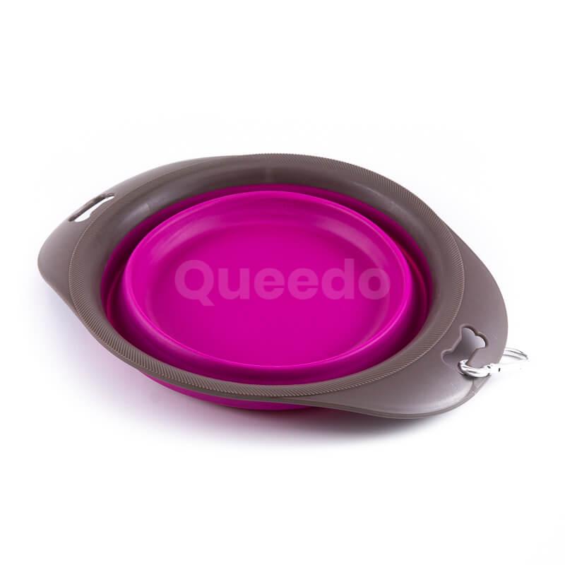 Nádherná skladacia psia miska fialová