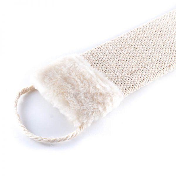Zábavné béžové škrabadlo na stenu tkanina plyš menšie
