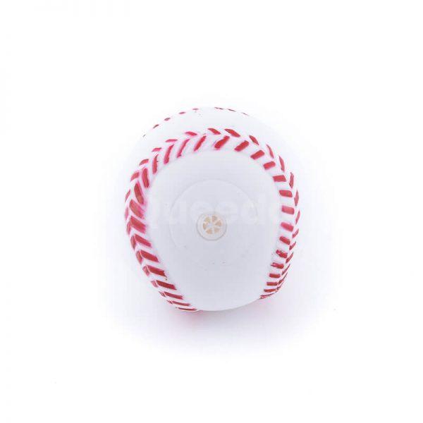 Praktická psia hračka lopta baseball biela